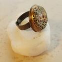"""""""Kőhatás"""" - raku kerámia gyűrű , Ékszer, Gyűrű, Az alábbi gyűrű egy különleges kerámiakészítési technikával készült, melynek raku a neve.   A raku j..., Meska"""