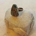 """""""Piramis"""" - Raku kerámia gyűrű , Ékszer, Gyűrű, Az alábbi gyűrű egy különleges kerámiakészítési technikával készült, melynek raku a neve.   A raku j..., Meska"""