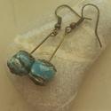 """""""Kék bogyó I.""""  raku kerámia fülbevaló, Ékszer, Fülbevaló, Ez a fülbevaló egy különleges kerámiakészítési technikával készült, melynek raku a neve.   A raku ja..., Meska"""
