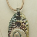 """""""Álmom a tengerről II."""" csigás raku kerámia nyaklánc, Ékszer, Medál, Nyaklánc, Az alábbi nyaklánc egy különleges kerámiakészítési technikával készült, melynek raku a neve.   A rak..., Meska"""