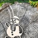 Karácsonyi mikulás fából, Dekoráció, Karácsonyi, adventi apróságok, Ünnepi dekoráció, Karácsonyi dekoráció, Karácsonyfadísz, Karácsonyi mikulásdísz fából, rétegelt lemezből, mindkét oldalán csiszolt, natúr színben...., Meska