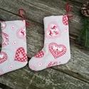Meglepetés zoknik skandináv mintával- Mikulás zoknik, karácsonyi ajándékzsák 1pár, Dekoráció, Karácsonyi, adventi apróságok, Ajándékzsák, Varrás, Meglepetést is rejthetnek a zoknik, de ünnepi dekorációnak is használhatod.  Skandináv stílusú, bel..., Meska