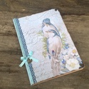 KÉK Madarak-Vendég könyv, romantikus napló,emlékkönyv különleges alkalomra, Mindenmás, Naptár, képeslap, album, Baba-mama-gyerek, Jegyzetfüzet, napló, Napló emléknek, verseknek, különleges alkalomra esküvőre ( valami kék) vagy csak , ha nosztal..., Meska