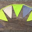 Lime és Csoki -vintage zászlófűzér, Bunting dekorációnak, lakásdekorációnak, Dekoráció, Mindenmás, Dísz, Varrás, Díszítsd vele a lakást, a gyerekszobát, vagy egy kerti parti dísze is lehet ez a vidám zászlófűzér...., Meska