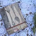 Gastronomia-Nosztalgia receptes füzet, jegyzetes , Naptár, képeslap, album, Otthon, lakberendezés, Jegyzetfüzet, napló, A főzés-sütés szerelmeseinek! A receptek összegyűjtésére vár!  A füzetet dekupázsoltam, s..., Meska