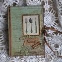 Bon Appetit! 2.- Vintage Receptes Füzet, Naptár, képeslap, album, Jegyzetfüzet, napló, Nosztalgia hangulatú recept füzet, hogy a kedvenc receptek dekoratív helyre kerüljenek. Albumpap..., Meska