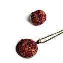 Kender medál, gyűrűvel, Ékszer, Ékszerszett, Festett kenderből készültek az ékszerek,bronz kiegészítőkkel. A medál mérete 3 cm.(2900Ft) ..., Meska