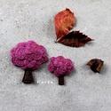 Fa brossok-AnyaLánya szett, Ékszer, Bross, kitűző, Kenderből és gyapjúfilcből készültek a brossok! Méret: 7cm és 5cm Ár: 3400Ft és 2000Ft , Meska