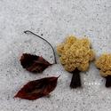 Fa brossok-AnyaLánya szett (mustár), Ékszer, Bross, kitűző, Kenderből és gyapjúfilcből készültek a brossok! Méret: 7cm és 5cm Ár: 3400Ft és 2000Ft , Meska