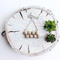 Bogyós nyaklánc (beige), Ékszer, Nyaklánc, Medál, Natúr kenderből készítettem a medált, ezüst színű lánccal... A bogyók mérete 1cm., Meska