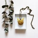 Rókás nyaklánc, Ékszer, Nyaklánc, Medál, Rókás medál, kenderből, kurkumával festve, antik bronz alappal... Méret: 3cm + fülek , Meska