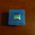 Bútorfogantyú/Bútorékszer Égszín, Bútor, Otthon, lakberendezés, Fogantyú, 5 x 5 cm méretű kemencében olvasztott üveg bútorfogantyú, fém gombon. Kék spectrum üveg egy..., Meska