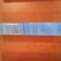 Bútorékszer / fogantyú, Otthon, lakberendezés, Fogantyú, Üvegművészet, Egyedi, kék márvány spectrum üvegből, kemencében olvasztott bútorfogantyú. 12 x 2 cm méretű, a fura..., Meska