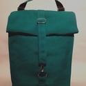 Green  Vízálló hátizsák, Táska, Hátizsák, Válltáska, oldaltáska, Varrás,     Rolltop hátizsák kivül-belül erős vízálló vászonból készült, belül található kulcstartó karabín..., Meska