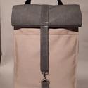 Rose vízálló hátizsák, Táska, Hátizsák, Válltáska, oldaltáska, Rolltop hátizsák kivül-belül erős vízálló vászonból készült, belül található kulcstar..., Meska