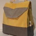 Yellow Vízálló hátizsák., Táska, Válltáska, oldaltáska, Hátizsák, Varrás, Hátizsák anyaga erős vízálló vászon. Bélése szintén ebből az anyagból készült. Belül egy zseb és eg..., Meska