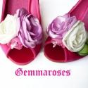 Tavaszi bokréta- esküvői  / menyasszonyi / báli  cipőklipsz, Dekoráció, Esküvő, Cipő, cipőklipsz, Ha véletlenül pont Neked sem Manolo Blahnik a cipőd, azért egyet se búsulj. :)) Ezzel a cipőklipssze..., Meska