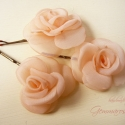 Mini rózsa-szett BARACK árnyalatban, Ruha, divat, cipő, Hajbavaló, Hajcsat, RENDELHETŐ Visszafogott, aprócska rózsákat varrtam hullámcsatra, ami visszafogott eleganciát kölcsön..., Meska