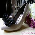 Fekete cipőklipsz , Dekoráció, Esküvő, A legegyszerűbb cipő is feldobható ezzel a nőies cipőklipsszel egy-egy alkalomra, de akár a hétközna..., Meska