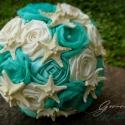 Tengerparti rózsacsokor, Esküvő, Dekoráció, Esküvői csokor, Ünnepi dekoráció, Kagylós csokor menyasszonyoknak, koszorúslányoknak vagy épp ajándékba.  POSTÁZÁSRA KÉSZ.  Egyre több..., Meska