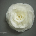 Stilizált rózsa - ekrü, Rendelhető! Stilizált formájú textil rózsa.  ...