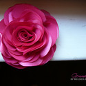 Pink stilizált rózsa - kitűző/hajcsat, Esküvő, Ruha, divat, cipő, Hajbavaló, Hajcsat, Ennek a stilizált formájú textil rózsának minden egyes szirmát magam alakítottam, varrtam.   Ideális..., Meska