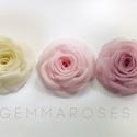 """Romantikus  rózsa -szett(3db), Ruha, divat, cipő, Esküvő, Hajbavaló, Ezúttal 3db egymással harmonizáló, mégis eltérő színű rózsát válogattam """"egy csokorba"""" - Ekrü és róz..., Meska"""