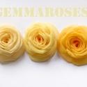 """Sárga rózsa -szett(3db), Ruha, divat, cipő, Esküvő, Hajbavaló, Ezúttal 3db egymással harmonizáló, mégis eltérő színű rózsát válogattam """"egy csokorba"""" - sárga  árny..., Meska"""