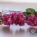 Virágkoszorú - Ciklámen, Baba-mama-gyerek, Esküvő, Koszorúslányoknak, menyasszonyoknak vagy akár fotózási kelléknek ajánlom ezt a virágkoszorút,mely se..., Meska