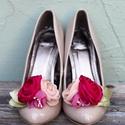Ciklámen  bokréta- esküvői  / menyasszonyi / báli  cipőklipsz, Dekoráció, Esküvő, Cipő, cipőklipsz, Ezzel a cipőklipsszel egyedivé varázsolhatod cipellőd, szandálod. Rendkívül nőies!  Ajánlom menyassz..., Meska