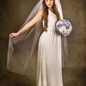 Balerina fátyol, Esküvő, Hajdísz, ruhadísz, Ez a fátyol leheletfinom tüllből készült, amit csak tengeren túlról lehet beszerezni. A nevét onnét ..., Meska