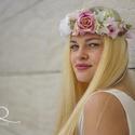 Virágkoszorú vegyes virágokkal II., Baba-mama-gyerek, Esküvő, Koszorúslányoknak, menyasszonyoknak vagy akár fotózási kelléknek ajánlom ezt a virágkoszorút,mely ve..., Meska