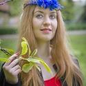 Virágkoszorú királykék virágokkal, Koszorúslányoknak, menyasszonyoknak vagy akár f...