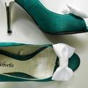 Masni cipőklipsz é r e , Esküvő, Cipő, cipőklipsz, Fehér masni cipőklipsz - megrendelésre.   Egyedi szín egyeztetése vásárlás előtt szükséges, hiszen f..., Meska