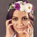 Virágkoszorú, Baba-mama-gyerek, Esküvő, Koszorúslányoknak, menyasszonyoknak vagy akár fotózási kelléknek ajánlom ezt a virágkoszorút,mely se..., Meska