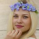 Virágkoszorú -liláskék, Baba-mama-gyerek, Esküvő, Koszorúslányoknak, menyasszonyoknak vagy akár fotózási kelléknek ajánlom ezt a virágkoszorút,mely se..., Meska