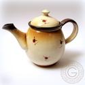 Rózsás teáskanna, Konyhafelszerelés, Otthon, lakberendezés, Kancsó , Kerámia, Hargitai agyagból korongozott, engóbbal festett, fényes mázzal ellátott teáskanna. Űrtartama 1,3 l...., Meska