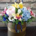 Virágzó tavasz, Dekoráció, Esküvő, Dísz, Esküvői dekoráció, A doboz mérete a virágokkal együtt,kb.30*25cm. Szépséges,kiválló minőségű selyemvirágokka..., Meska