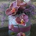 Orchideák királynője, Dekoráció, Szerelmeseknek, Dísz, Mindenmás, A doboz mérete virágokkal együtt kb.30*26 cm. Szép nagyfejű orchidea ággal díszítettem a dobozt.Köz..., Meska
