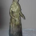Csipkekendős hölgy, Képzőművészet, Szobor, Textil, 33,5 cm magas szobor. Egyedi stílusban, egyedi tervezésben. , Meska