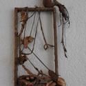 Fészkét őrző madár , Képzőművészet, Szobor, Textil, Nagyon dekoratív munka. Remélem másnak is tetszik.A keret, amin a madár ül 43 cm hosszú, és 3..., Meska
