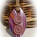 Gondola - medál lila színekben, Ékszer, Medál, Lilás kevert színű  medál, saját ötlet alapján, kizárólag kézzel készült egyedi kézműves termékem. F..., Meska