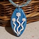 Tündérek tánca -medál kék fehér színekben, Ékszer, Medál, Kékes kevert színű  medál, saját ötlet alapján, kizárólag kézzel készült egyedi kézműves termékem. H..., Meska