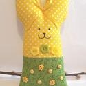 Yellow Energy - Home,  nyuszi, Dekoráció, Húsvéti díszek, Baba-mama-gyerek, Gyerekszoba, Varrás, Kedves kis kézműves nyuszika, ajándékba, lakásdekorációnak, húsvéti díszítés részeként. Pamutvászon..., Meska
