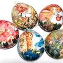 Nyuszimese- húsvéti filc tojások 5 db-os csomag, Dekoráció, Mintás filcből készült, elbűvölő tojáskák, viszonylag nagy méretűek, kerekded alakúak. Flízzel tömöt..., Meska