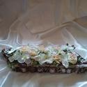 Fakéreg asztaldísz II., Dekoráció, Esküvő, Dísz, Esküvői dekoráció, Fakéregből és zuzmóból készítettem az alapot, amit lefestettem.Selyemorchideával,rózsával, hortenziá..., Meska