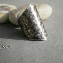 Elegancia gyűrű-BLKATA részére foglalva, Alpakka, kalapálva, antikolva, polírozva, lakkoz...