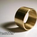 Sárgaréz csőgyűrű, Sárgaréz lemezből készült ez a zárt, fényes...