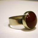 Karneol vintage gyűrű, A kő szépségét kihangsúlyozva készítettem e...