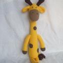 Horgolt zsiráf, Baba-mama-gyerek, Dekoráció, Gyerekszoba, Saját tervezésű,egyedi horgolt zsiráf, mérete kb.45 cm,töltet vatelin., Meska